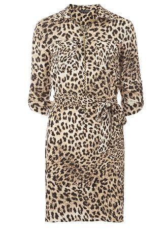Dorothy Perkins Womens animal zip front shirt dress- Brown Brown/biege animal print shirt dress. Wearing length 97cm 100% Viscose. Machine washable. http://www.MightGet.com/january-2017-13/dorothy-perkins-womens-animal-zip-front-shirt-dress-brown.asp