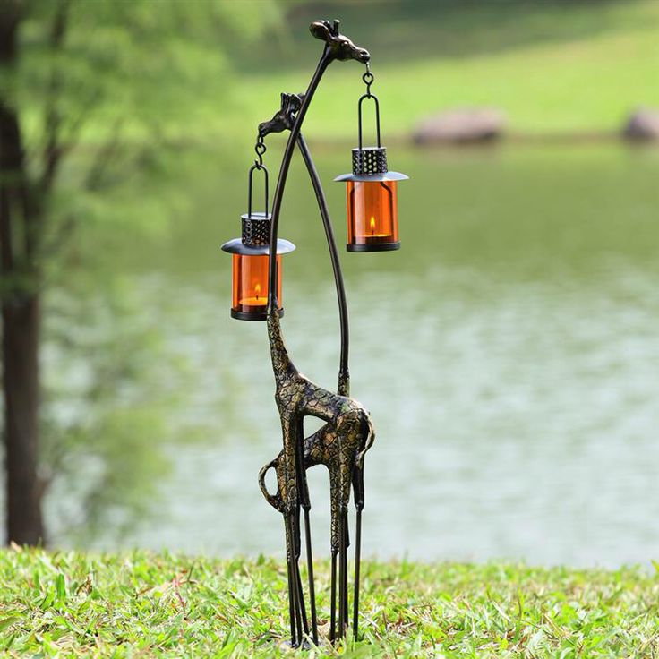Giraffe outdoor lantern by Wildlife Wonders
