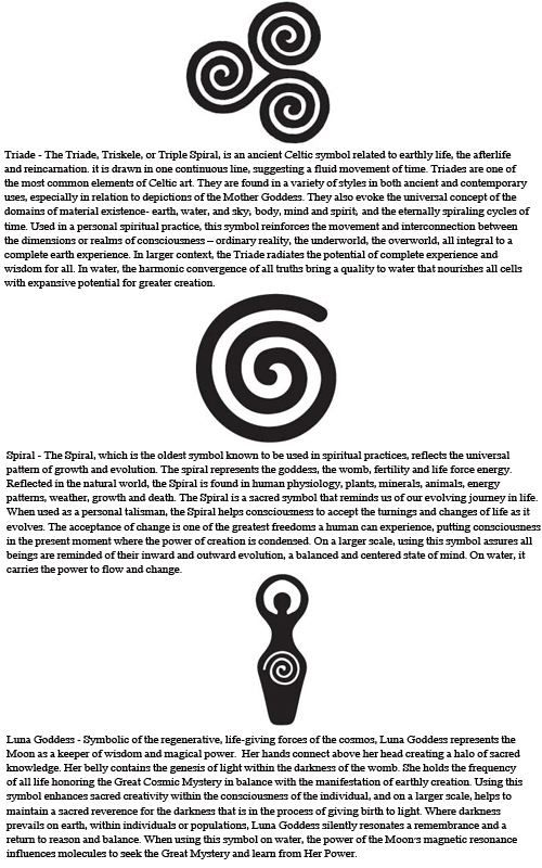 Wicca symbols. Spiral - love the meaning x