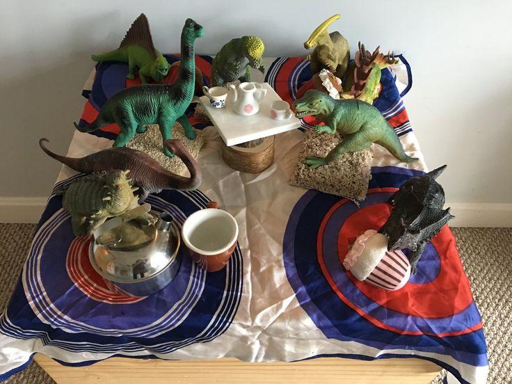 The dinosaurs are having a tea party at Harmony to celebrate DINOVEMBER!