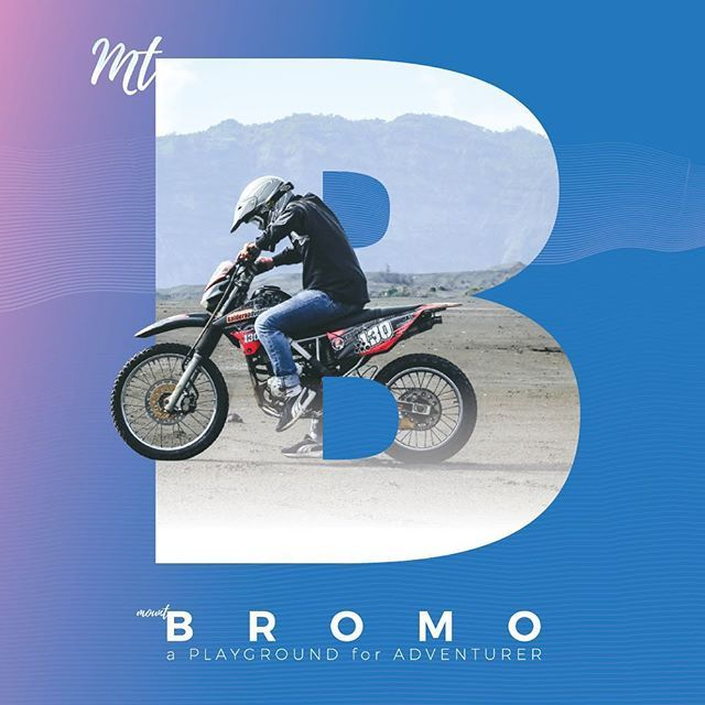 "An infographic made by me, follow @meaninc.2 for more of it. ""BroMount."" . B for Bromo. A mountain for hiking, biking, cycling, downhill, near my hometown in Java, Indonesia."