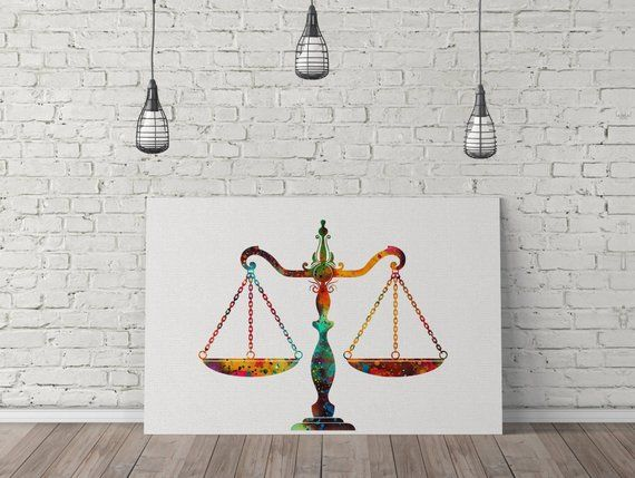 Scales Of Justice Art Lawyer Art Lawyer Office Decor Attorney Print Law Student Gift Lawyer Decor Wa Lawyer Office Decor Canvas Art Painting Student Gifts