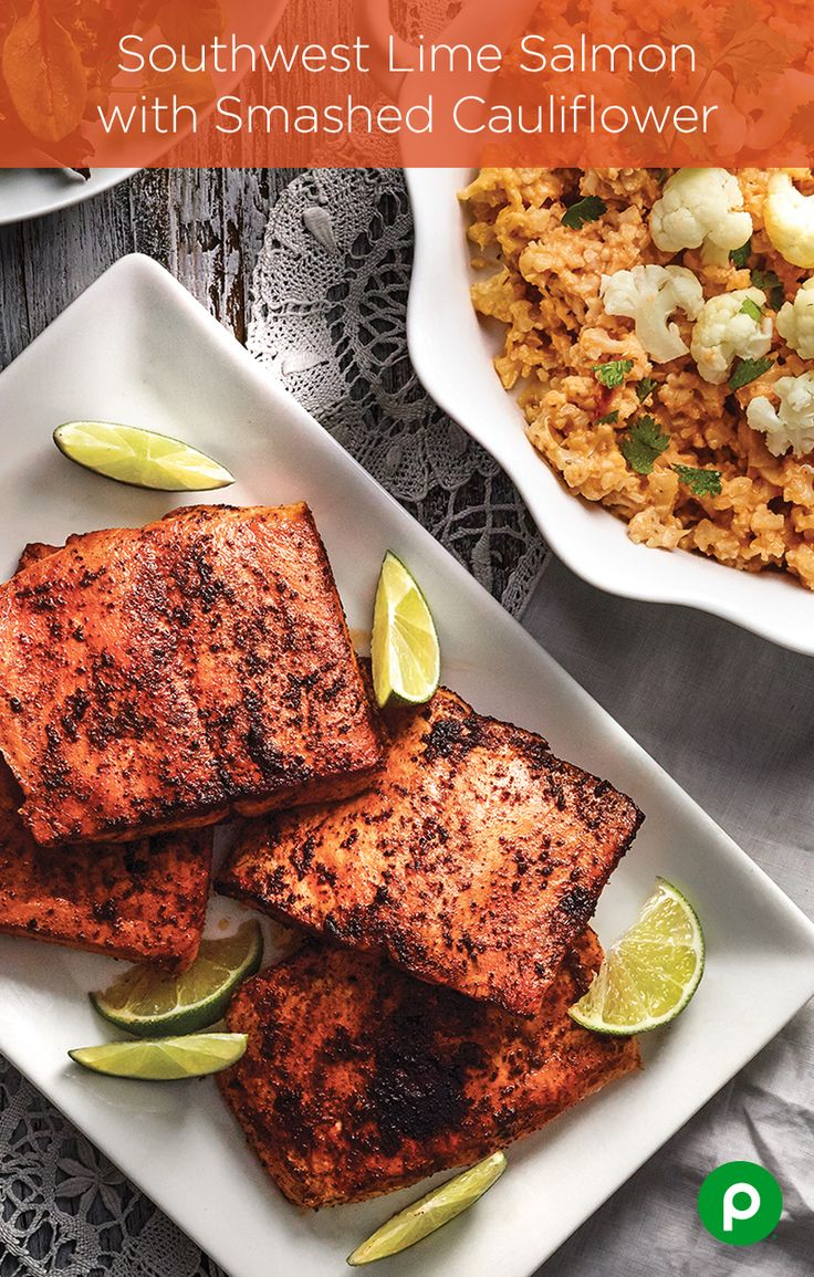The Southwest Lime Salmon with Smashed Cauliflower is a big hit with those who want something quick, easy, and delicious. Smash the cauliflower coarsely if you prefer a chunky texture, or finely for something more like mashed potatoes. Don't want to sauté? Grilled or baked salmon will make this Publix Aprons recipe just as delicious.