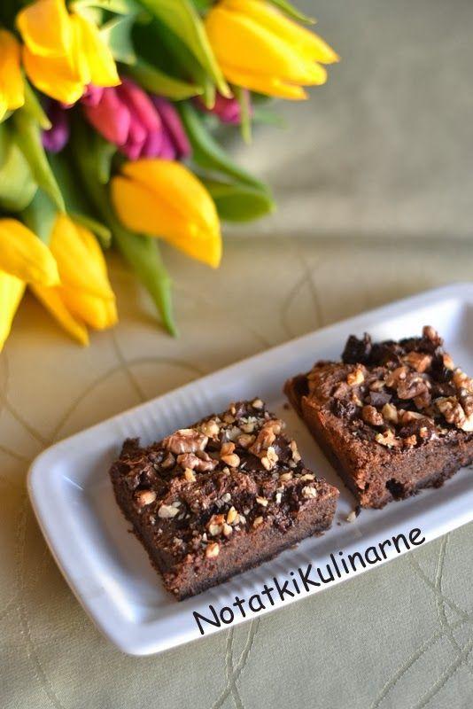 notatki kulinarne: Bezglutenowe brownies z kaszy gryczanej