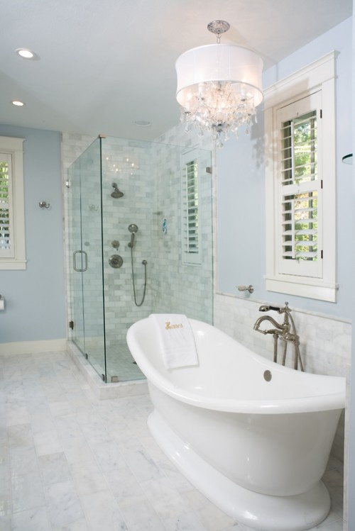 White Bathroom In Love With The Tub And Shower Ideas