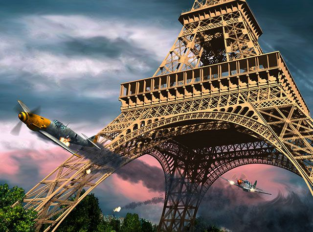 William Overstreet Jr., WWII veteran - Famous for flying beneath the arches of the Eiffel Tower, while chasing a German aircraft. While in solo pursuit of a German Messerschmitt Bf 109G flying into Nazi-occupied Paris. He maneuvered ...