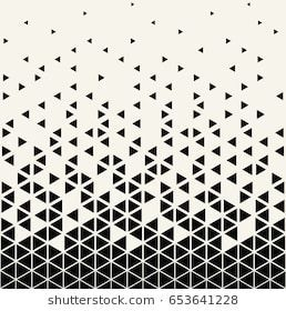 Abstract geometric triangle halftone gradient vector pattern  – Tattoo Muster