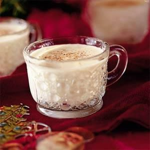Aunt Kat's Creamy Eggnog....  If you've misplaced your recipe for a classic eggnog cocktail, look no further. This creamy drink is sure to usher you into a sweet holiday slumber.