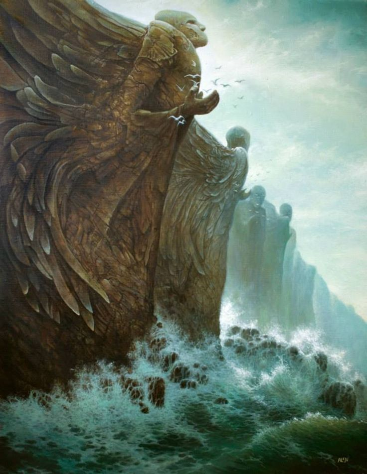 Surrounding the sea-bound boarder of his country are the high cliffs of Edéra which wages it's continual battle against the sea--keeping her in her God-given place