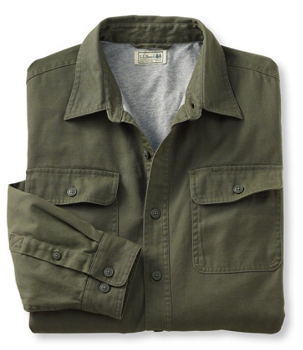 Lined canvas shirt flannel chamois and lined free for Ll bean wrinkle resistant shirts