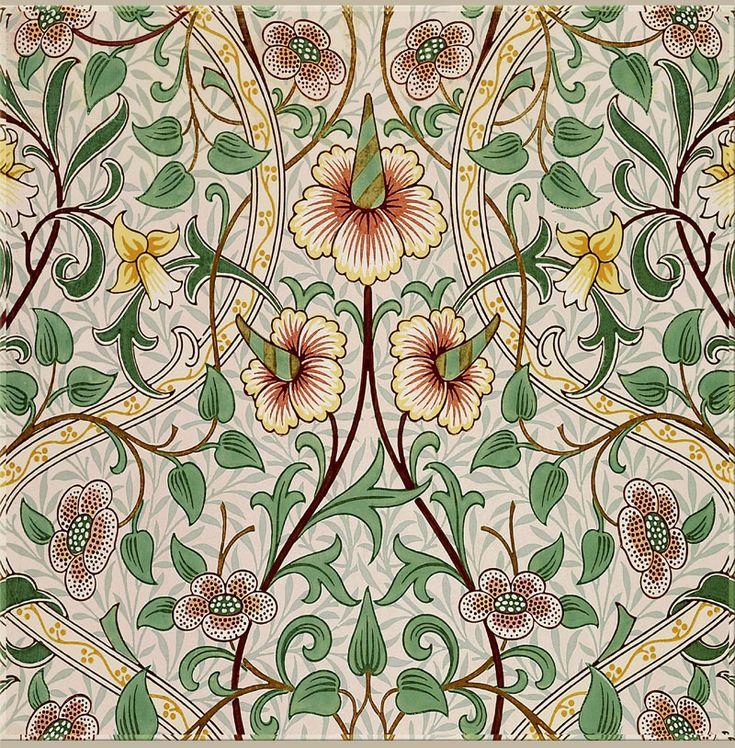 William Morris, John Henry Dearle: Daffodil in green