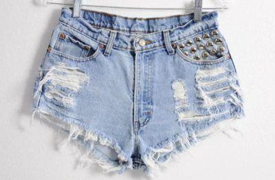 shorts desfiados curtos jeans claro