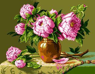 Goblenuri - Goblen Set Pitesti - Modele imprimate - Bujori roz (imprimat)
