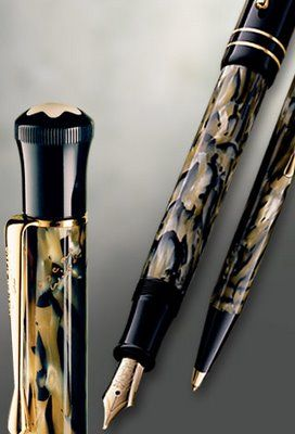 mont blanc pin: pen and tell her