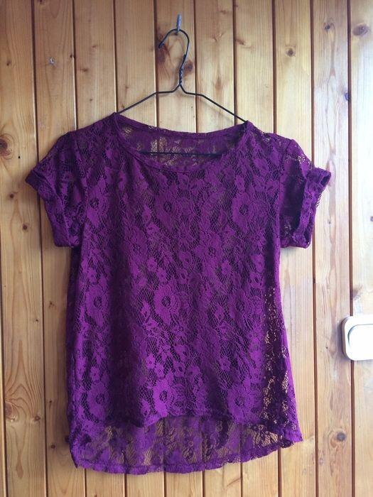 bluzka tshirt top koronkowa koronka bordo burgund kwiaty  New Look z mojej szafy! Rozmiar 36 / 8 / S za 19.00 zł. Zobacz: http://www.vinted.pl/damska-odziez/koszulki-z-krotkim-rekawem-t-shirty/17044117-bluzka-tshirt-top-koronkowa-koronka-bordo-burgund-kwiaty.