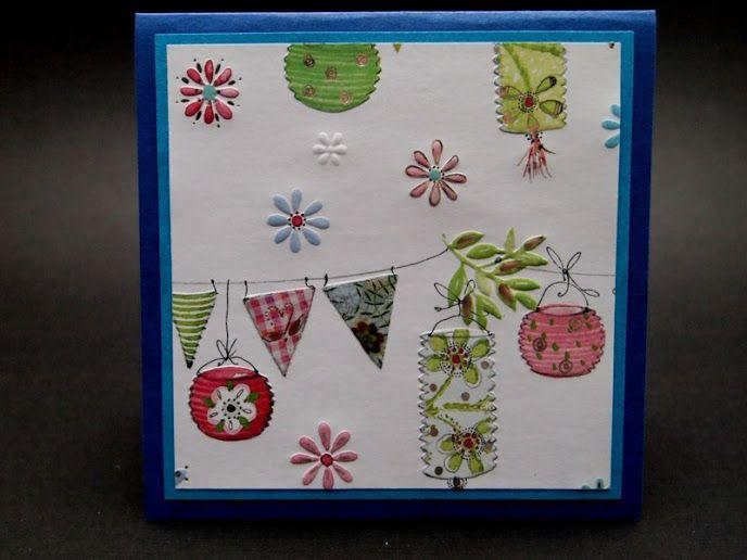 Very versatile card for weddings, birthdays, parties, summer, romantic events...