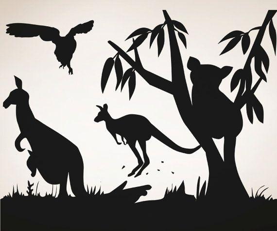 Vinyl Wall Decal Sticker Australian Animals by Stickerbrand