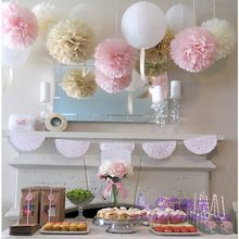 45pcs mixed (10cm,15cm,20cm) Wedding decoration Tissue paper pom poms party decoration baby shower wedding events party supplies(China (Mainland))