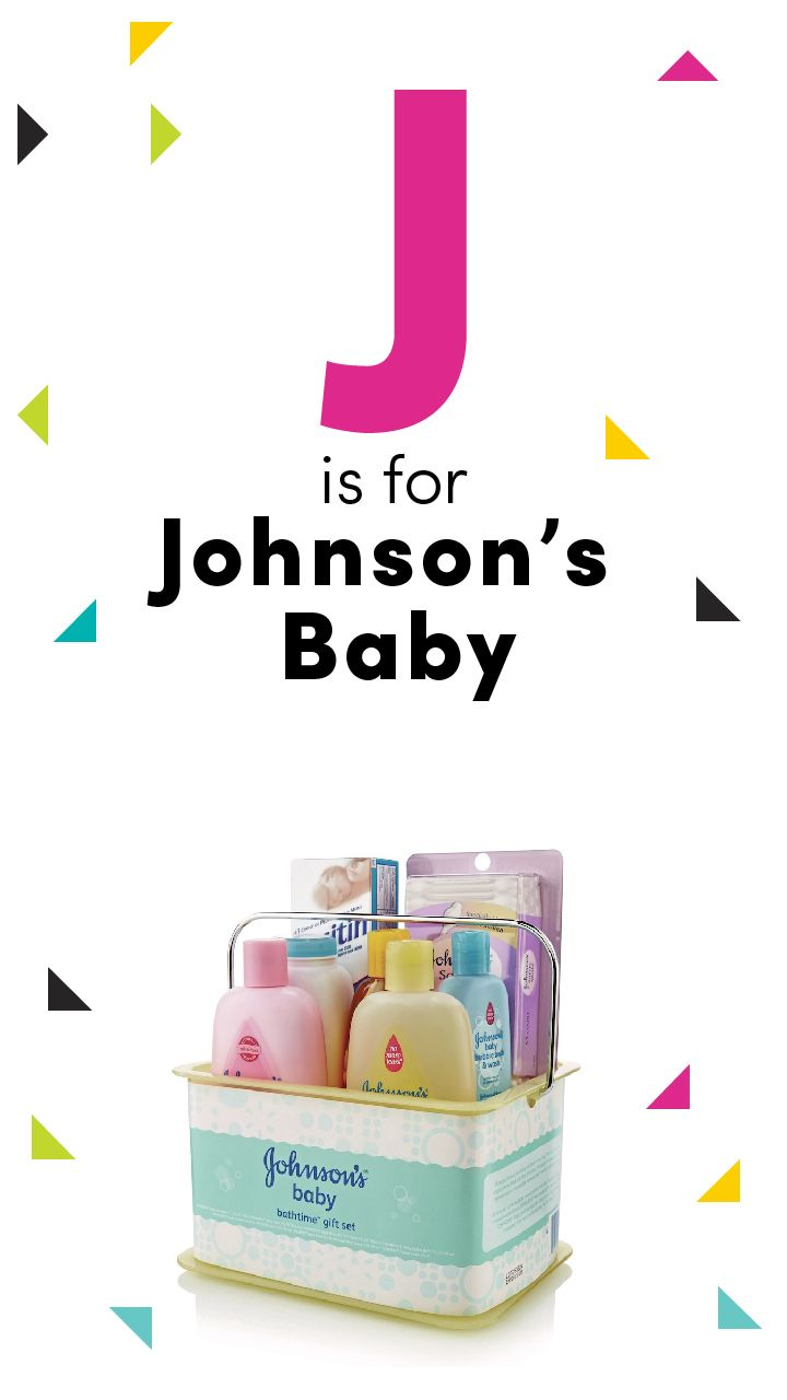 Your newborn's delicate skin will need equally gentle products, like this Johnson's Bathtime Essentials Baby Gift Set.