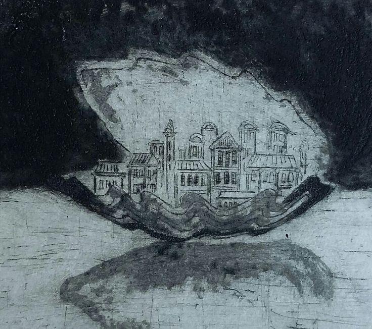 """""""Finding"""", Carborundum on paper, 10x11cm, 2012"""