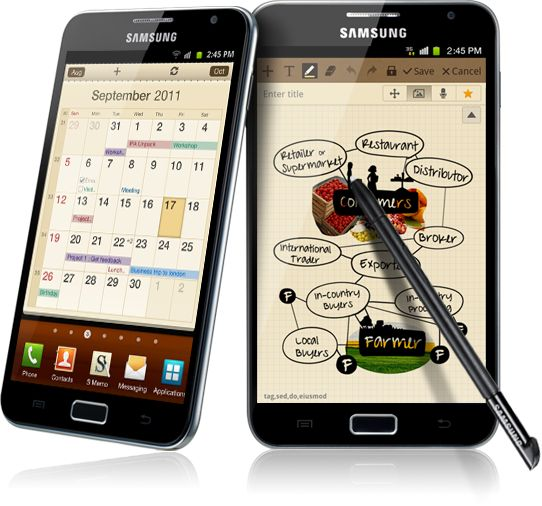 And this, ladies and gentlemen, is the Samsung Galaxy Note. This little guy, was a bloody fantastic move to make. The stylus, the size, the slim body. Mmmm. Your move, apple :)