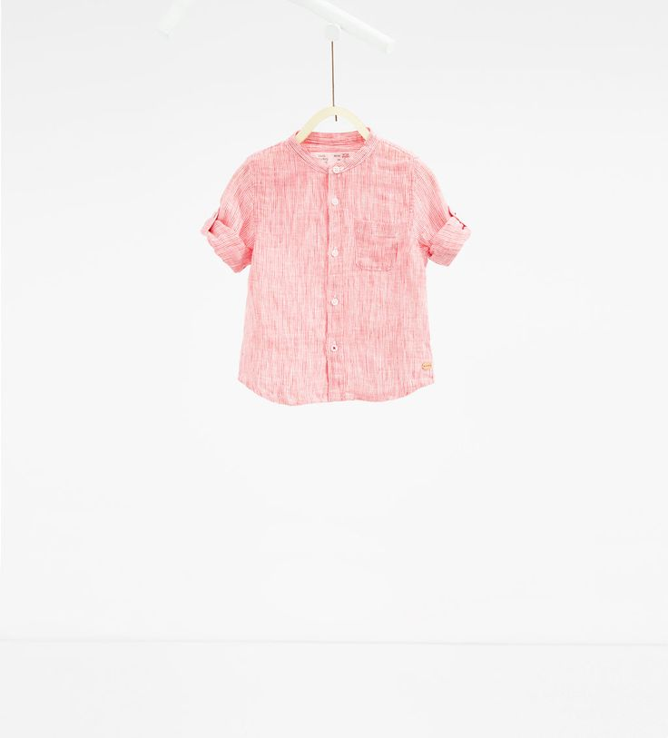 Striped fabric shirt with pocket-SHIRTS-BABY BOY | 3 months-3 years-KIDS | ZARA United States