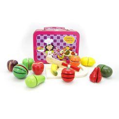 Kaper Kidz Wooden Fruit Set in Tin Carry Case
