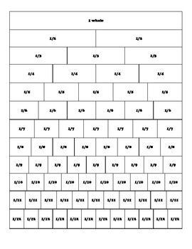 fraction bars worksheet fraction barsfraction worksheetsfraction bar worksheet worksheets for. Black Bedroom Furniture Sets. Home Design Ideas