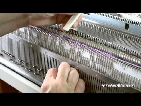 Aran style machine knitting from Anna Kovin