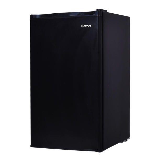 Costway 3.2 Cu.Ft. Compact Refrigerator Mini Dorm Small Fridge Freezer Reversible Door