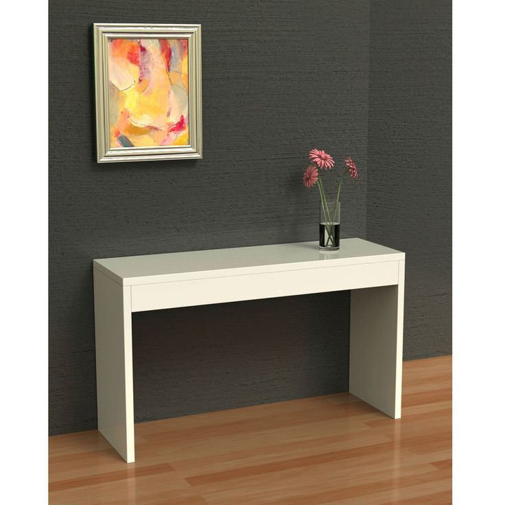 Sofa Table Pinterest: White Sofa Table Modern Entryway Living Room Console Table