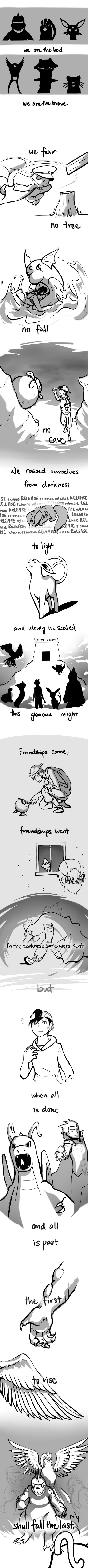 Twitch Plays Pokemon fan art. If you haven't heard about the 10,000 people all playing one game of Pokemon, you're missing out. -D