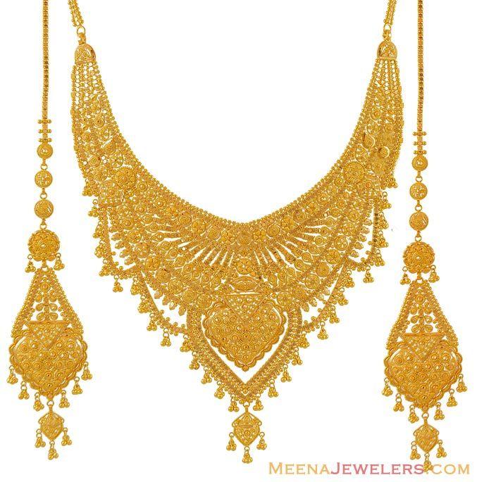 Gold necklace set 22Karat