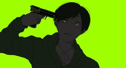 Osomatsu-san- Choromatsu #Anime「♡」Dark Neon green