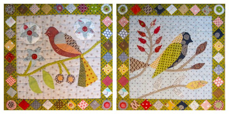 Month 1 - block 1 and 2 Paradise of Birds by Irene Blanck