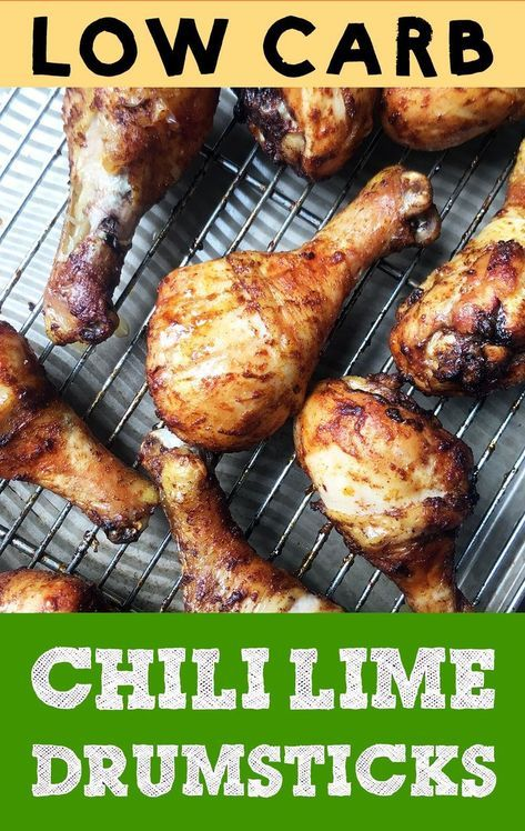 These Low Carb Chili Lime Baked Chicken Legs Are Easy To Make And