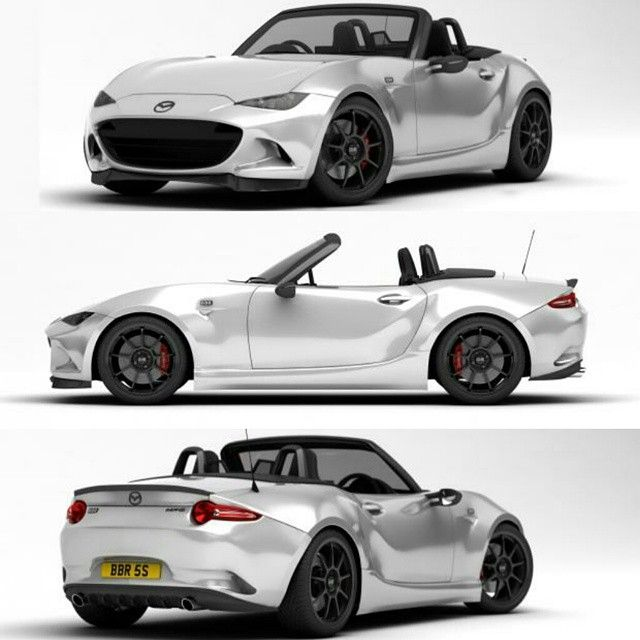 """topmiata: """"The ND tuned by BBR to 200-250bhp! """"BBR will apply its considerable expertise to the ND when it arrives in the UK this summer, with these early depictions released to whet our appetites..."""" Read more at http://www.evo.co.uk/mazda/mx-5/14915/mazda-mx-5-tuned-by-bbr-to-200bhp 