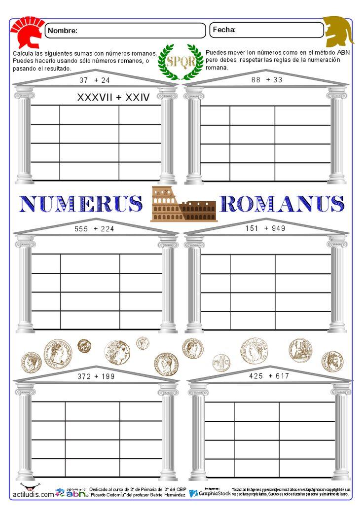 Sumas ABN con números romanos