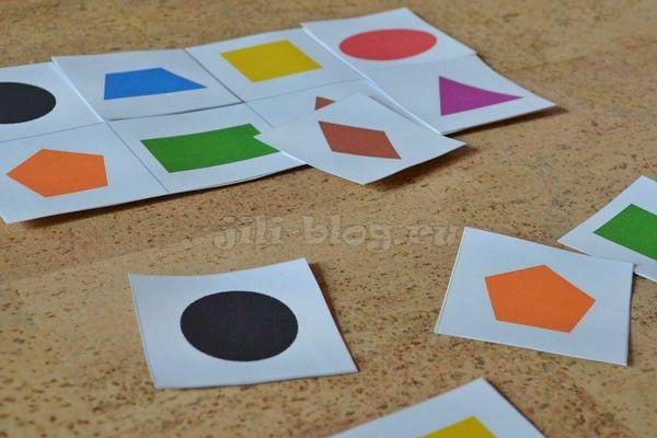 Учим геометрические фигуры с малышами от 1 года | Скачать картинки | Жили-Были