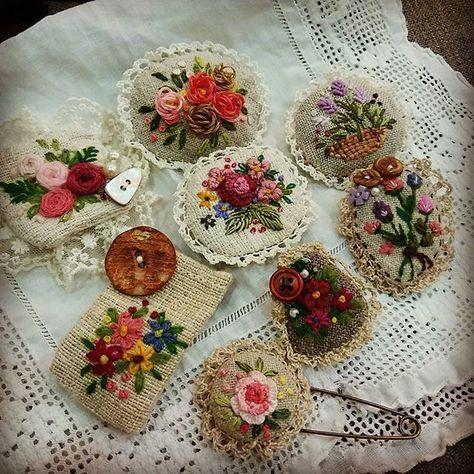 #Embroidery#stitch#needlework#buroch…