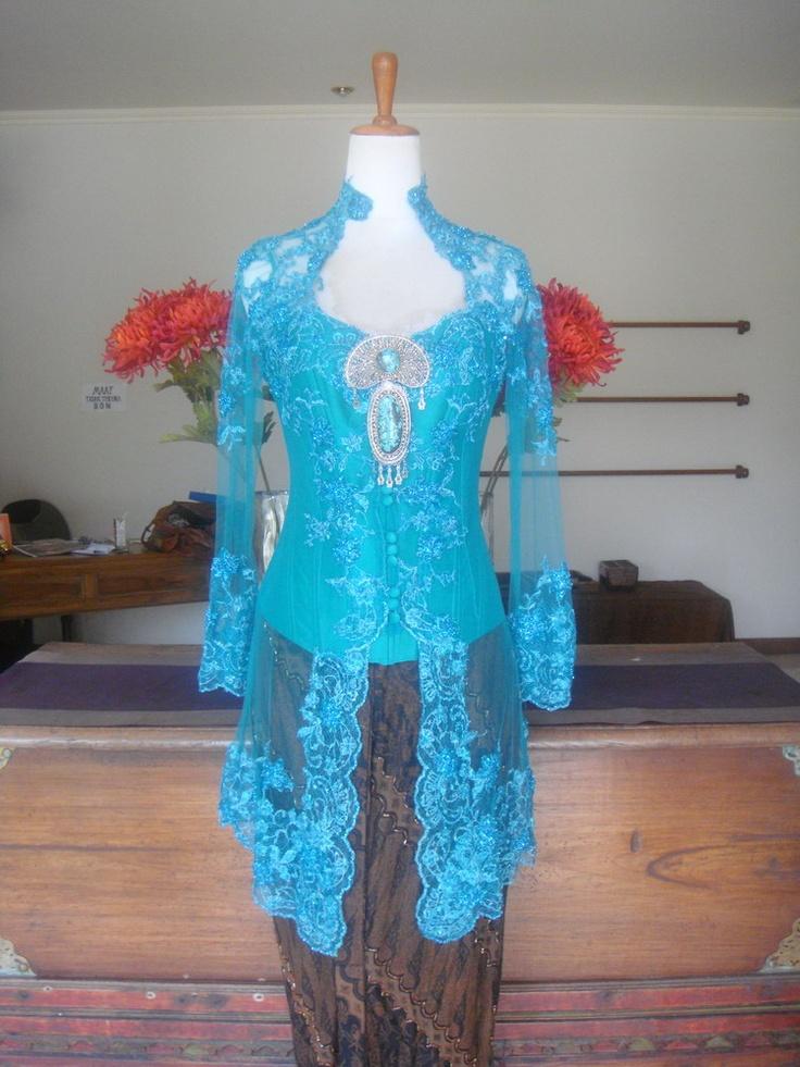 blue lace kebaya Asian Inspire Pinterest Kebaya