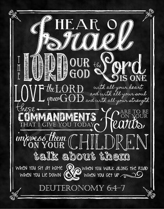 Scripture Art  Deuteronomy 647 Chalkboard by ToSuchAsTheseDesigns