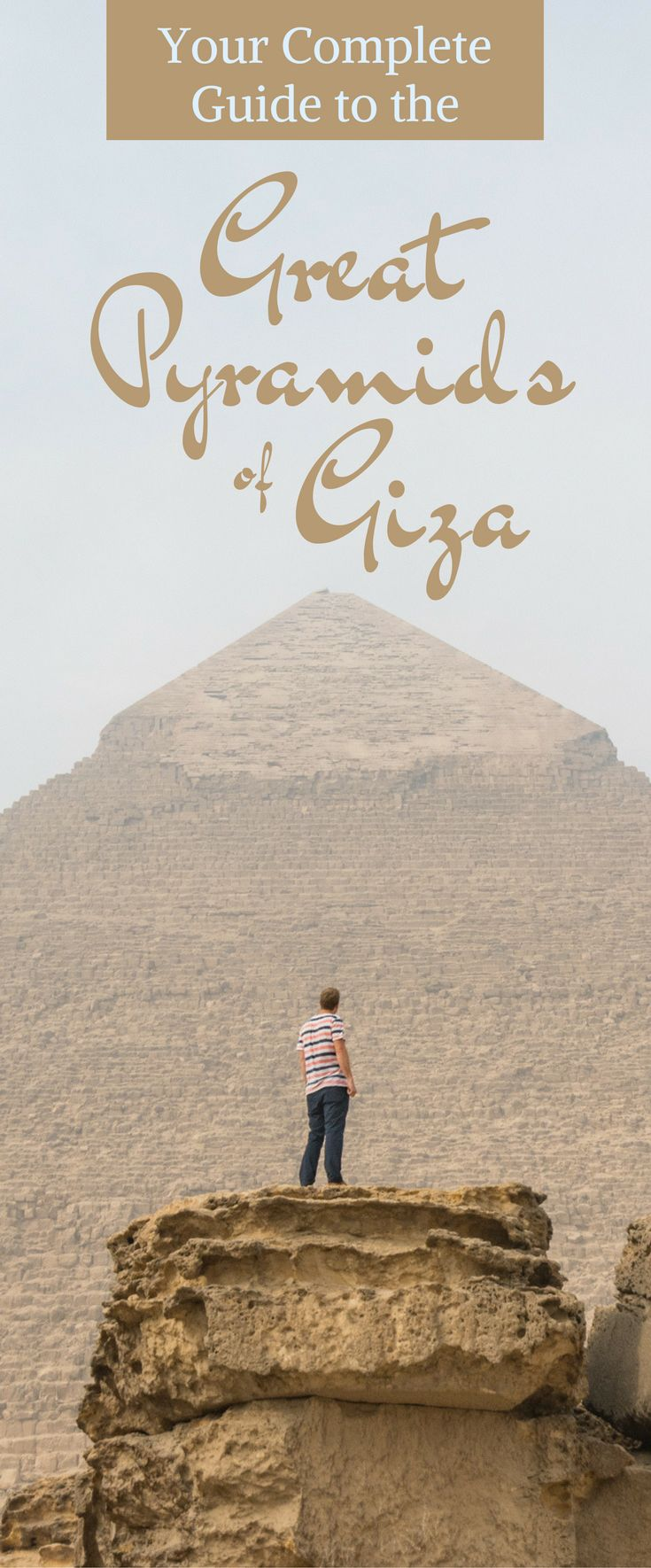Your Complete Guide to the Great Pyramids of Giza: Everything you need to know before visiting the pyramids in Egypt including when to go, where to stay, and what scams to avoid! by Wandering Wheatleys (@wanderingwheatleys) #pyramids #Giza #Cairo #Egypt #MiddleEast #Travel #TravelGuide #Africa
