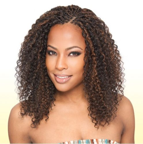 crochet braids with bangs women braids crotchet braids braids styles ...