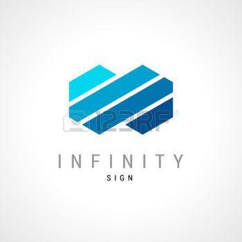 hexagon logo: Infinity flat concept double hex logo template.