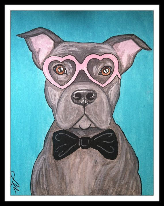 Pit bull Love Painting... I want to make something like this for my sister