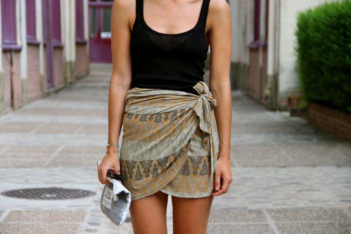 Isabel wrap skirt