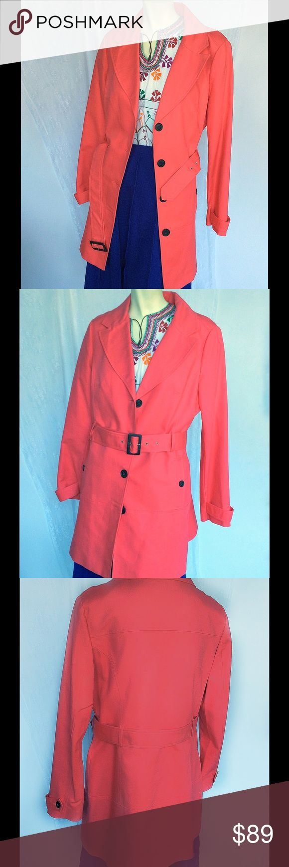 NEW MANGO MNG Fushia hot pink gabardine trench 10 Brand new, no tags, from Mango, Spain. Size is 44 EUR, US 10 approx. bundle to save! Mango Jackets & Coats Trench Coats