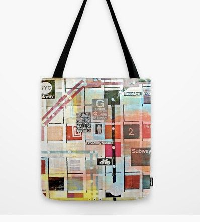 New York City  Bebe  Tote Bag by Sw19Gallery / Etsy by Sw19Gallery