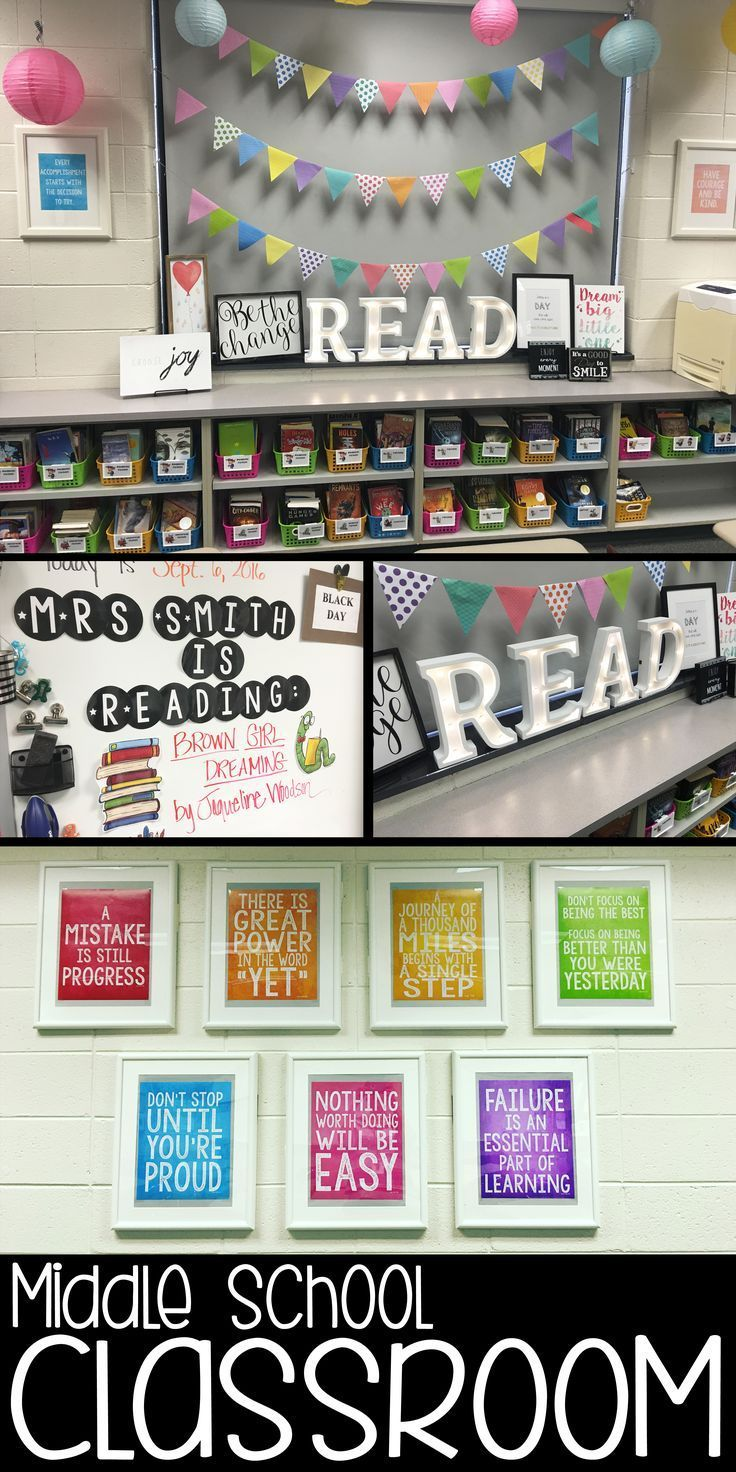 Looking for fun and easy ways to decorate your middle school classroom? Check out this blog post from Musings from the Middle School!